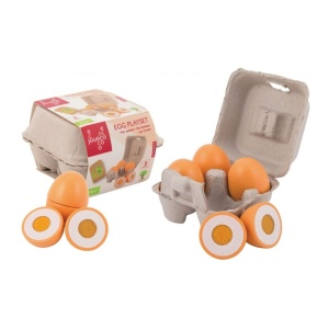 80074 Jouéco - Egg playset 4 pieces, Olu komplekts 4 gabalas, Яичный набор 4 штуки