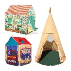 Rotaļu mājas, teltis