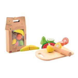 Joueco - Wooden cutting fruit