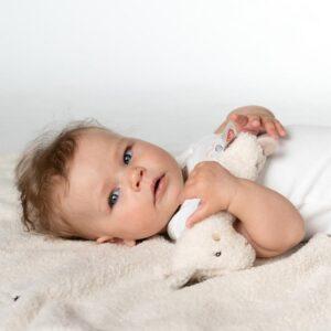 Fehn Soft toy rattle - Lama