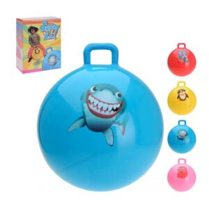 Jumping ball with handle - Animals