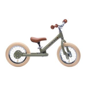 Trybike tērauda balansa ritenis – Vintage zaļš
