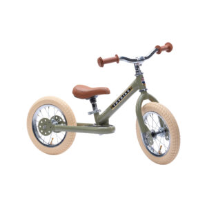 Trybike steel balance bike – Vintage Green