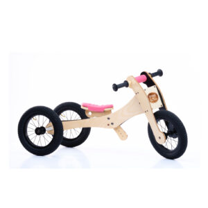 Trybike wooden bike 4 in 1 - Pink seat